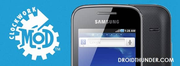 Root Samsung Galaxy Gio and install CWM recovery