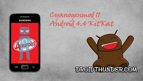 Samsung Galaxy Ace GT-S5830 Android 4.4.2 KitKat CM 11 ROM
