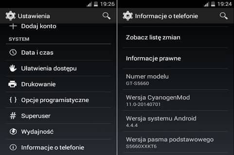 Update Galaxy Gio Android KitKat ROM