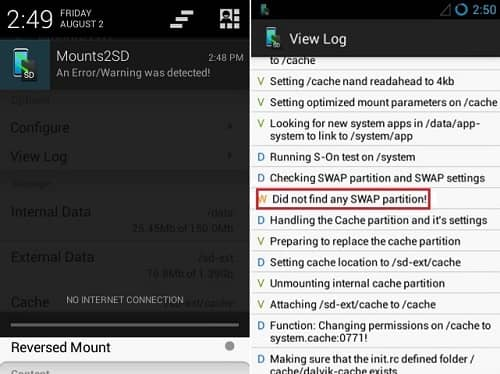Increase Internal Memory using Mounts2SD app 11