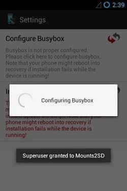 Increase Internal Memory using Mounts2SD app 4