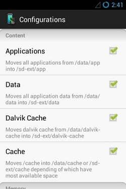 Increase Internal Memory using Mounts2SD app 8