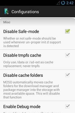 Increase Internal Memory using Mounts2SD app 9