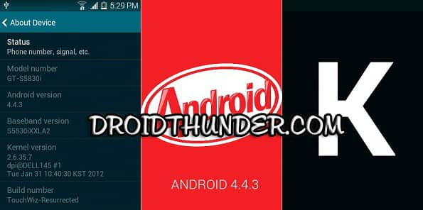 Install Android 4.4.3 TouchWiz Resurrected ROM on Samsung Galaxy Ace S5830i