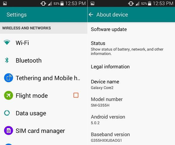 Install Android 5.0.2 Lollipop on Galaxy Core 2 SM-G355H