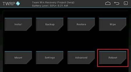 Install Android 5.0.2 Lollipop ROM on Galaxy Tab P1000 using TWRP Reboot System