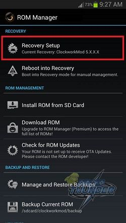 Install CWM Recovery on Galaxy Tab using ROM Manager app 1