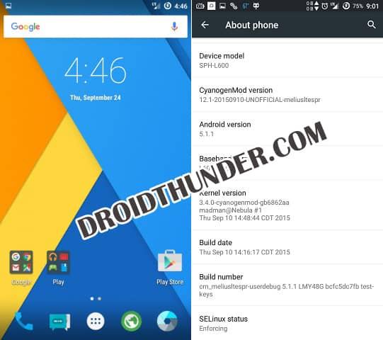 Install CM12.1 on Samsung Galaxy Mega 6.3 Sprint L600