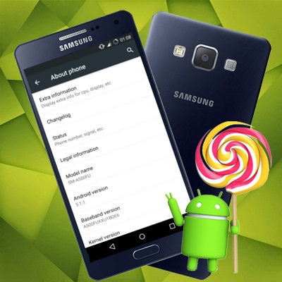 Update Galaxy A5 to Android 5 1 1 Lollipop CM 12 1 ROM
