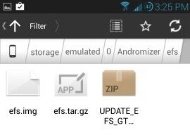 Backup EFS IMEI using Andromizer App 2