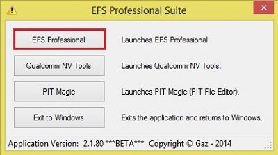 Backup EFS IMEI using EFS Professional Tool 2