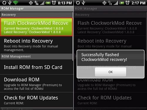 How to make Nandroid Backup without Custom Recovery using ROM Manager 1