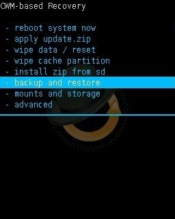 Nandroid Backup in CWM Custom Recovery 1