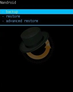 Nandroid Backup in CWM Custom Recovery 2