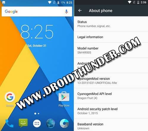 Samsung Galaxy Note 3 N9005 CM 13 ROM