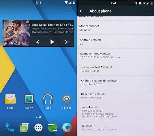 Samsung Galaxy Note 4 N910F CM 13 ROM
