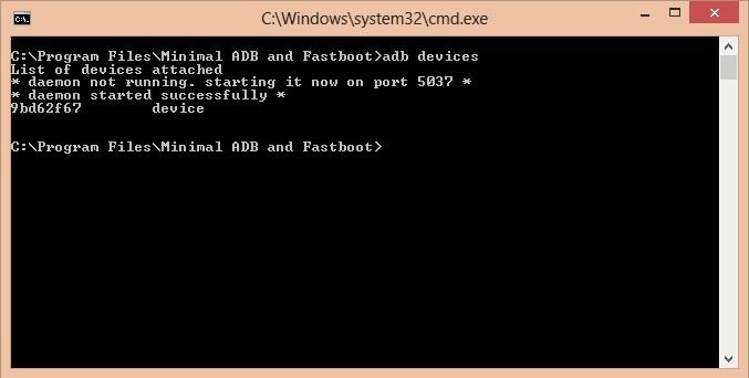 Unlock Bootloader of OnePlus 3 CMD window adb devices code