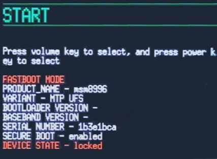 Unlock Bootloader of OnePlus 3 fastboot mode