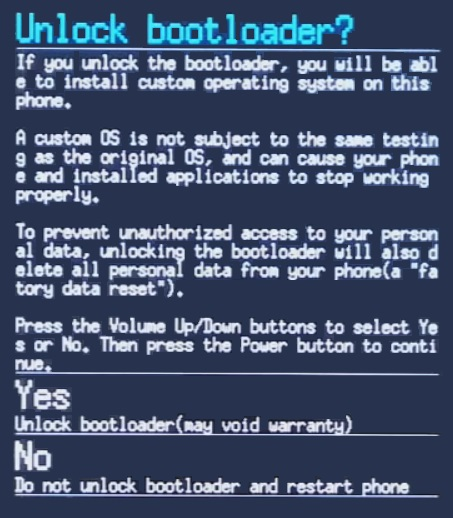 Unlock Bootloader of OnePlus 3 unlock message
