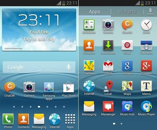 Samsung Galaxy S Advance i9070 Android 4.1.2 firmware screenshot 1