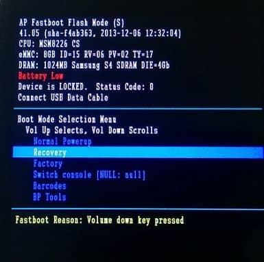 Install TWRP on Moto G Fastboot mode