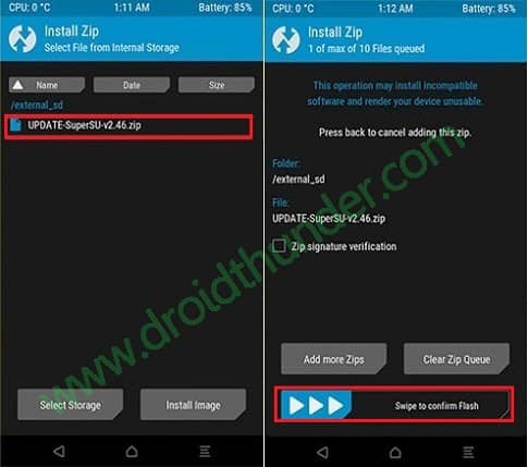 Root Moto G 2013 using TWRP Flash SuperSU