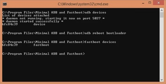 Unlock Bootloader of OnePlus 5T CMD window fastboot device code