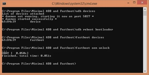 Unlock Bootloader of OnePlus 5T CMD window fastboot oem unlock code