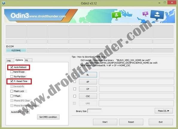 SM-J701F Android 7.0 Firmware Odin Auto Reboot