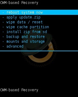 Install Android 7.0 Nougat ROM on Galaxy Y GT-S5360 CWM recovery reboot system now screenshot