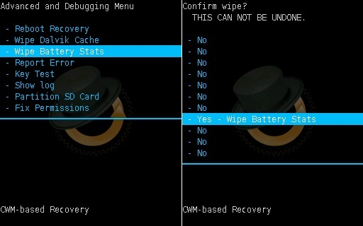 Install Android 7.0 Nougat ROM on Galaxy Y GT-S5360 CWM recovery wipe battery stats screenshot