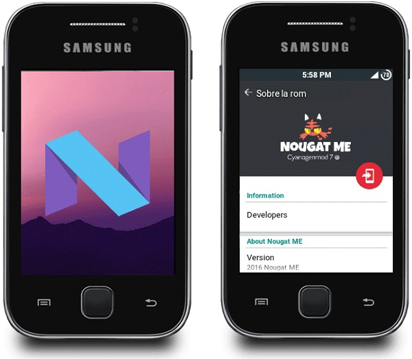 Install Android 7.0 Nougat ROM on Galaxy Y GT-S5360 screenshot 2