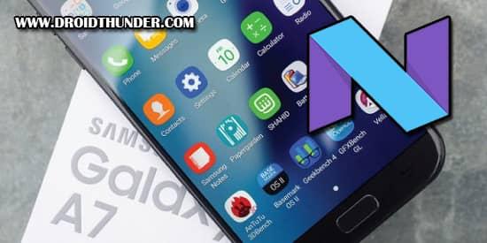 Samsung Galaxy A7 SM-A720F Android 7.0 Nougat XXU2BQK2 Firmware