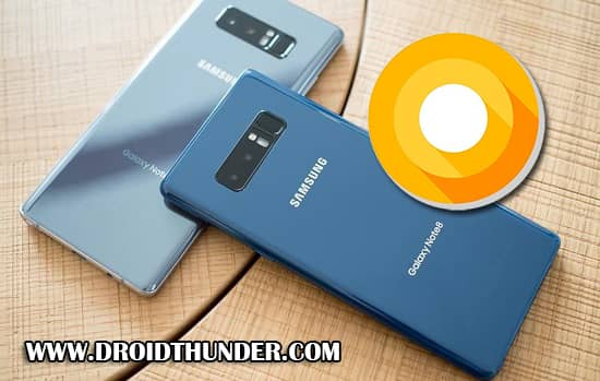Samsung Galaxy Note 8 N950F Android 8.0.0 Oreo Firmware