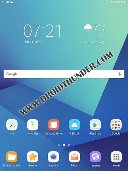 Update Galaxy Tab S3 to Android 8.0.0 Oreo JXU1BRE3 firmware