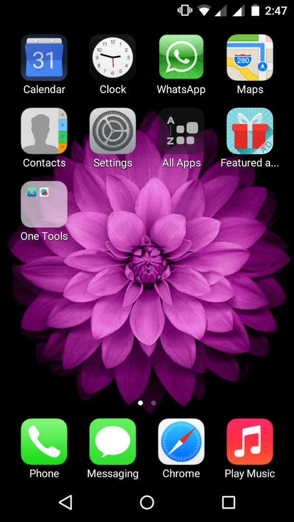 Install iOS on Android xOS launcher screenshot 3