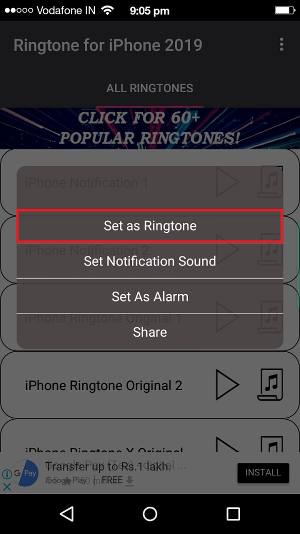 Turn Android into iPhone ringtone app screenshot 36