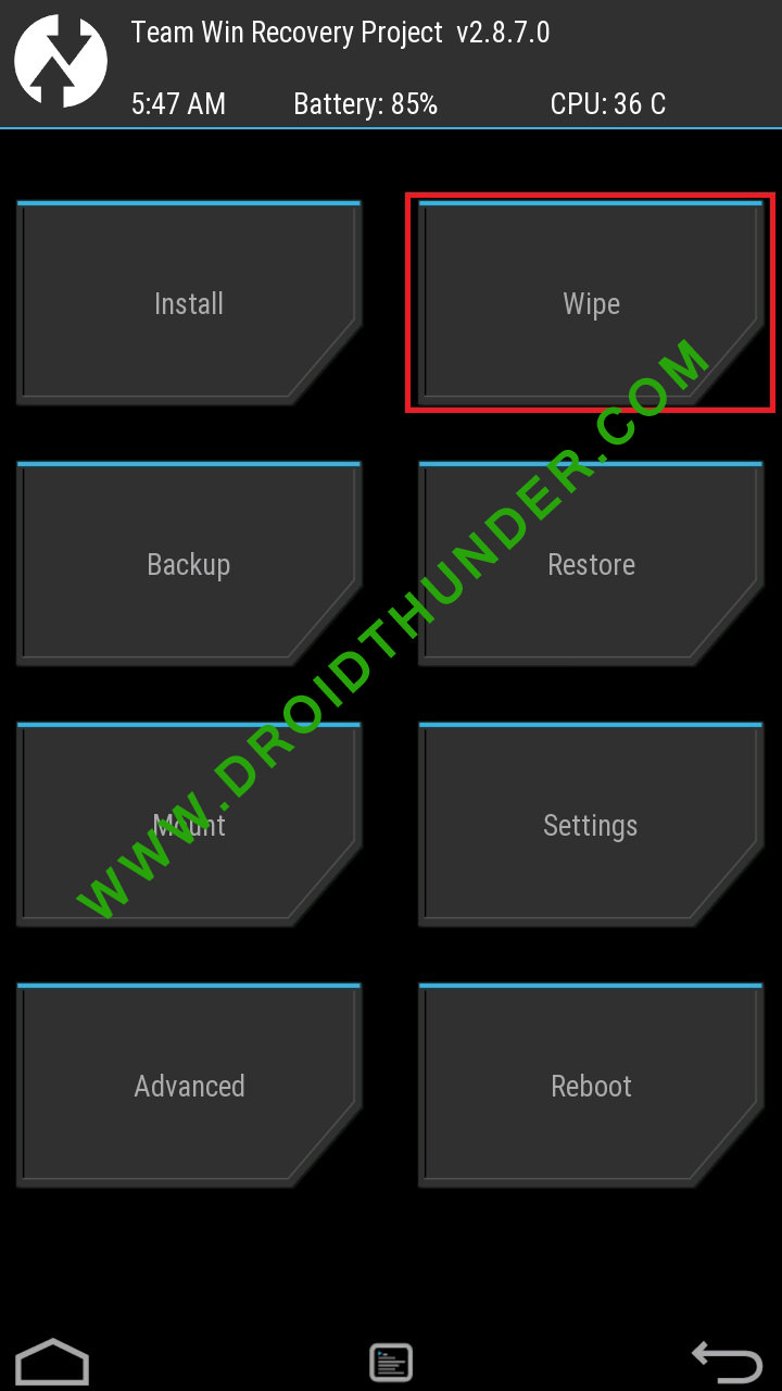 Error Executing Updater Binary In Zip using TWRP factory reset screenshot 1