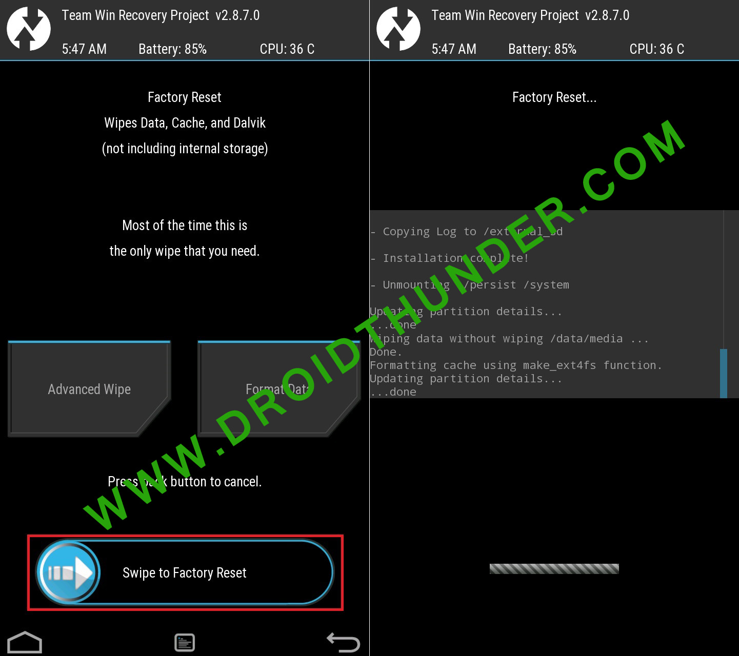 Error Executing Updater Binary In Zip using TWRP factory reset screenshot 2