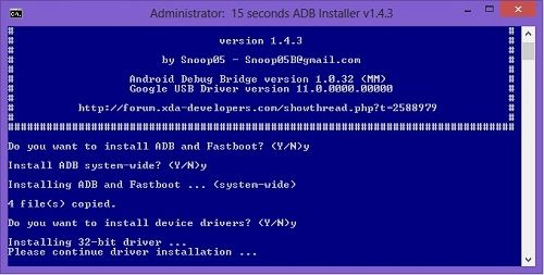 15 Seconds ADB and Fastboot Installer Setup 2