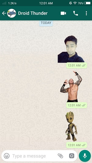 Create WhatsApp Stickers Online Free on Android Add and Send sticker screenshot 21