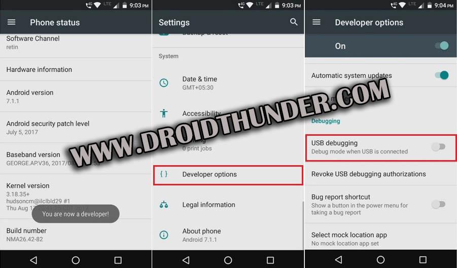 Enable Developer options USB Debugging Mode on Android 7 Nougat screenshot 2