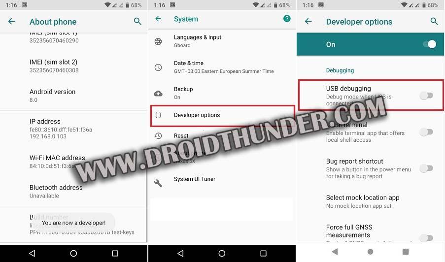 Enable Developer options USB Debugging Mode on Android 8 Oreo screenshot 2