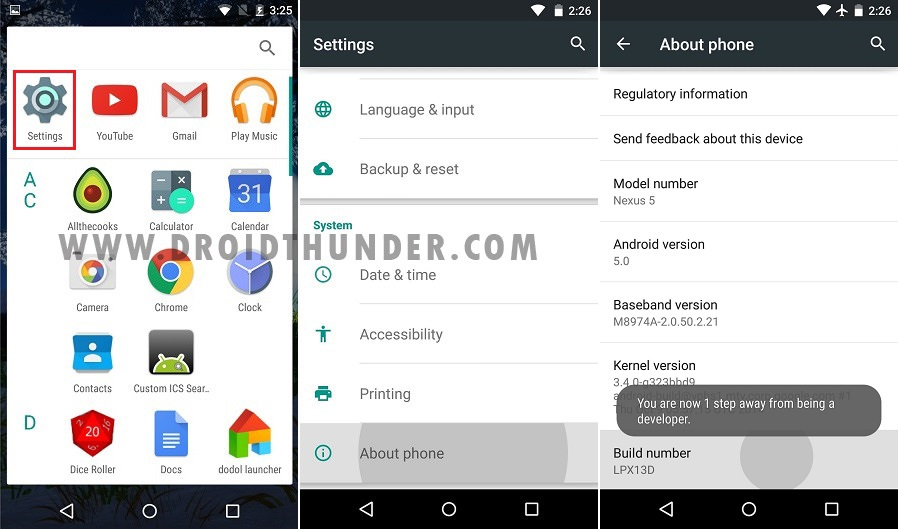 How to Enable USB Debugging Mode on Android 5 Lollipop screenshot 1