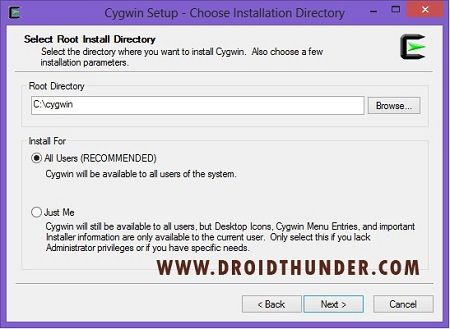 Convert IMG to TAR using Cygwin Tool Setup Online Converter 2