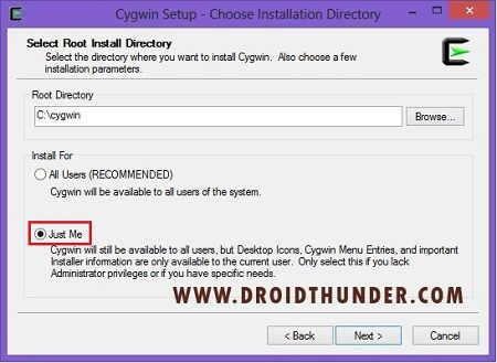 Convert IMG to TAR using Cygwin Tool Setup Online Converter 3