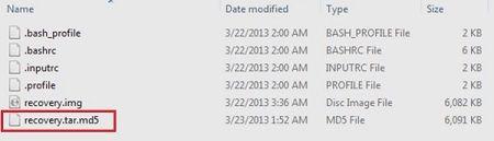 Convert Zip to tar.md5 using Cygwin 5