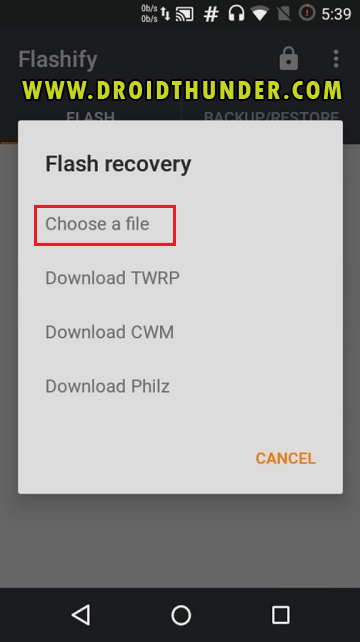 Install TWRP Recovery without PC on Android phone using Flashify app screenshot 10