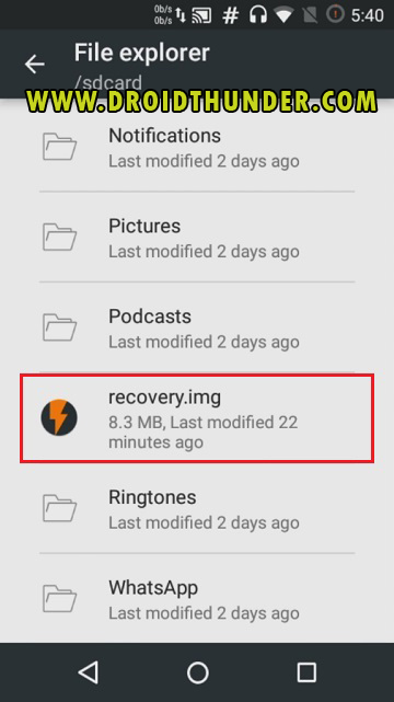 Install TWRP Recovery without PC on Android phone using Flashify app screenshot 12