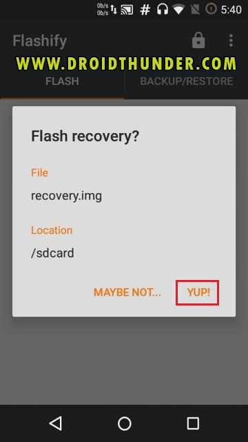 Install TWRP Recovery without PC on Android phone using Flashify app screenshot 13